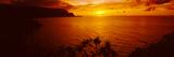 Sunset over an Ocean  Hanalei Bay  Kauai  Hawaii  USA