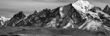 Snowcapped Mountain Range  Paine Massif  Torres Del Paine National Park  Magallanes Region