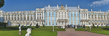 Facade of Catherine Palace  Tsarskoye Selo  St Petersburg  Russia