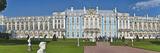 Facade of Catherine Palace  Tsarskoye Selo  St Petersburg  Russia