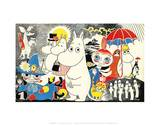 The Moomins Comic Cover 1 Reproduction d'art par Tove Jansson