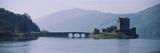 Castle at the Lakeside  Eilean Donan Castle  Loch Duich  Highlands Region  Scotland
