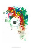 Lèvres noir Reproduction d'art par Lora Zombie