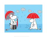 Moominmama and Snorkmaiden in the Rain