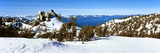 Trees on a Snow Covered Landscape  Heavenly Mountain Resort  Lake Tahoe