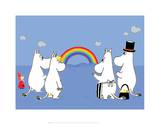 The Moomins Enjoying the Rainbow