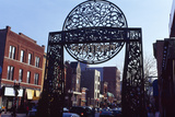 Gate at Old Town  Chicago  Cook County  Illinois  USA