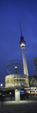 Weltzeituhr and Berlin Television Tower at Alexanderplatz  Berlin  Germany