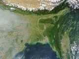 Satellite View of Bangladesh and the Ganges-Brahmaputra Delta