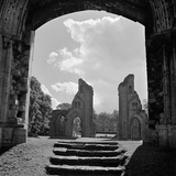 Glastonbury Abbey  Glastonbury  Somerset  View of the Two Piers