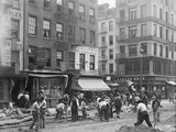 Men Working on Canal Street