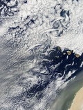 Cloud Vortices Off Madeira and Canary Islands