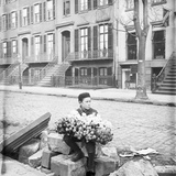 Boy Selling Flowers