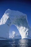 Arch Iceberg Near Lemaire Channel in Antarctica