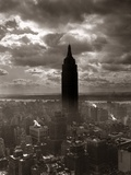 1930s-1940s Empire State Building New York City in Storm Cloud Cover
