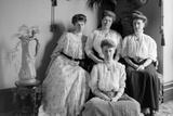 Portrait of Mother with Three Adult Daughters  Ca 1900