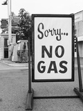 1973 Sorry No Gas Sign Beside Gas Pumps at Service Station Due to Opec Oil Crisis