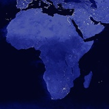 Night Time Satellite View of Africa
