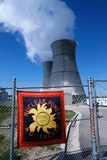 Sign on Fence at Nuclear Power Plant