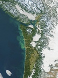 Pacific Northwest Coast of the United States in Winter
