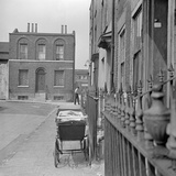 Swedenborg Square  Stepney  London  a Pram Stands on the Pavement Outside a House in Swedenborg Sq