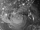 Night View of Hurricane Isaac Approaching Louisiana