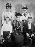Family Group Pose for Tintype Photograph  Ca 1888