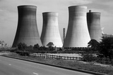 Lincolnshire  General View Showing Cooling Towers at an Unidentified Power Station