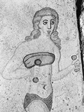 Detail of Young Women Exercising Late Antique Roman Mosaic