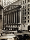 Exterior View of New York Stock Exchange on Wall Street