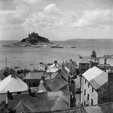Marazion  Cornwall a View over the Rooftops of Marazion to St Michaels Mount