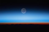 Crescent Moon Photographed from Orbit Aboard the International Space Station