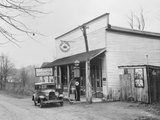 Post Office and Gasoline Station