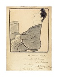 Caricature of Giacomo Puccini  1898
