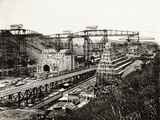 View of the Panama Canal under Construction