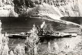 The German Battleship Tirpitz  Probably Photographed in a Norwegian Fjord
