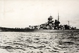 The German Battleship Gneisenau at Sea  Early in World War II