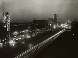 View of Lights Alongside Streets of Japan's Broadway Like Area