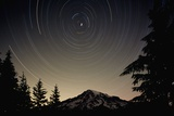 Star Trails Circle Above Mount Rainier