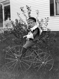 Toddler on a Period Tricycle  Ca 1895