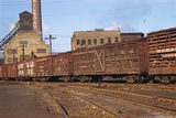 Train Freight Cars Entering Shipping Yard