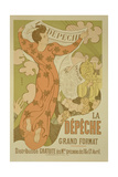 Reproduction of a Poster Advertising 'La Depeche De Toulouse' Newspaper  1892