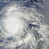 Hurricane Irene over the Bahamas on August 24  2011