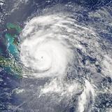 Hurricane Irene over the Bahamas on August 24  2011