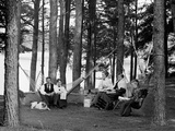 The Family Has Picnic Among the Pines  Ca 1900