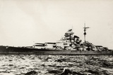 The German Battleship Bismarck of the German Kriegsmarine During Early World War II