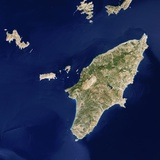 Satellite View of the Island of Rhodes