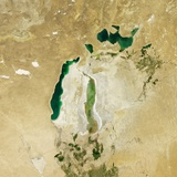 Satellite View of the Aral Sea in 2012