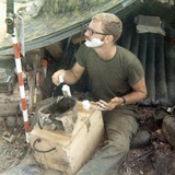 Snapshot of Us Soldier in Vietnam  Ca 1970