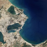Satellite Image of Carthage  Tunisia